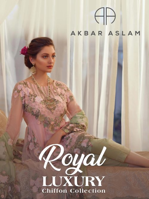 Akbar Aslam Royal Luxury Chiffon 2019 - Original
