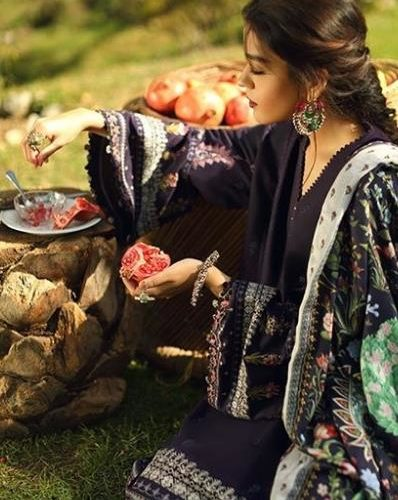 Zara Shahjahan Winter Shawl 2018 - Original