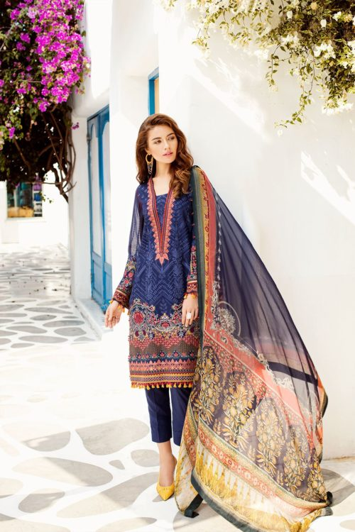 Baroque Swiss Voil  Volume 2 – Design 09 RESTOCKED Baroque Baroque Pakistani Suits