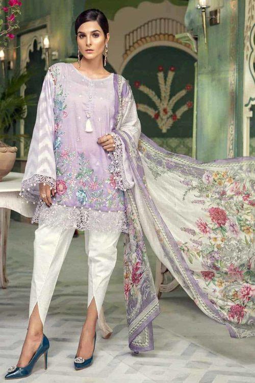 MARIA.B. Lawn Eid 2018 Pakistani Suit D-503-Lilac *Hot on Sale* Best Sellers