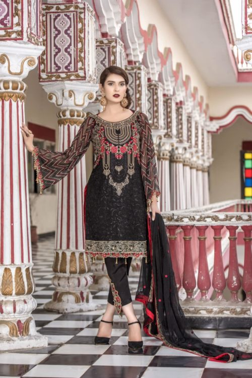 Opulent Chiffon by Iznik Design Carnation Pink HOT Best Sellers Restocked best salwar suits online