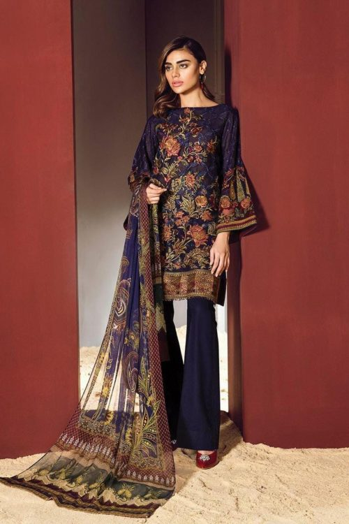 Baroque Swiss Voile Pakistani Suit