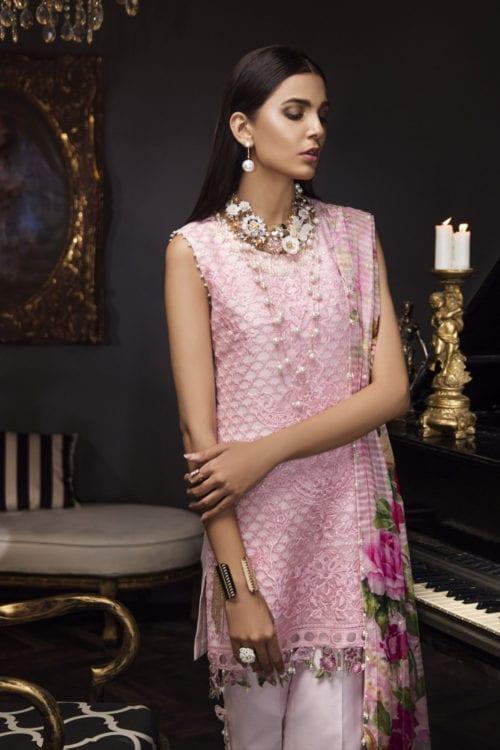Noor Formals by Saadia Asad Pakistani Suits & Dresses - Unstitched Dress Material Chiffon Dupatta Salwar Suit