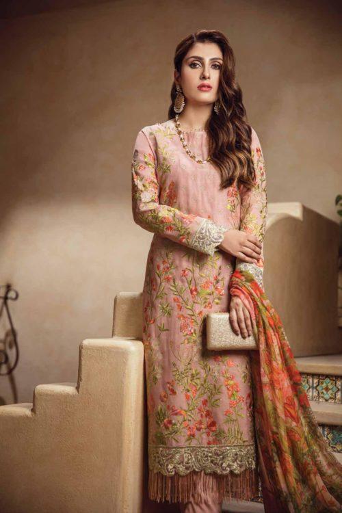 Al Karam Festive Pakistani Suit FC-03-18-2 PEACH