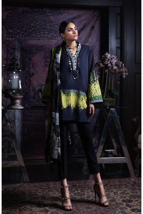 Sana Safinaz Muzlin Volume 3 M01A-18V2 RESTOCKED Sana Safinaz Chiffon Dupatta Salwar Suit