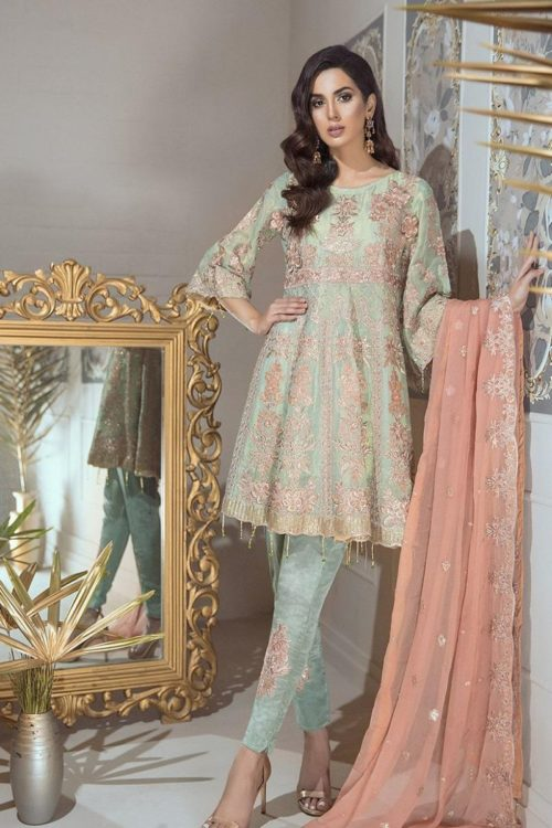 Eshaal Luxury Embroidered Chiffon Collection Vol-4 by Emaan Adeel
