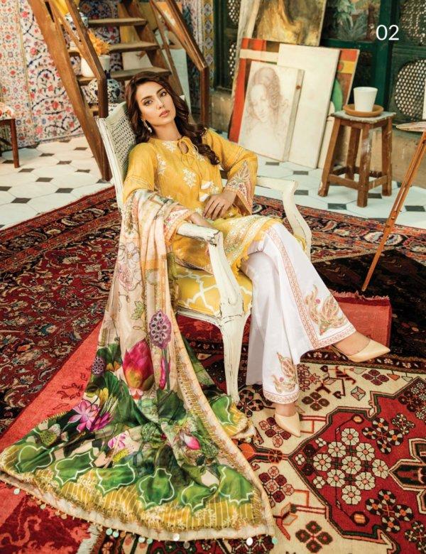 Daur e Hayat Luxury Lawn by Qalamkar RESTOCKED