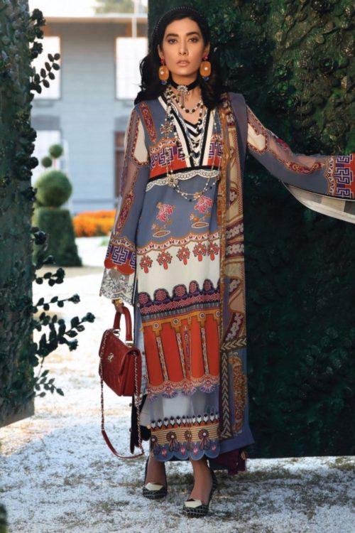 Zaha's Wonderland Summer Lawn Collection 2019  15A