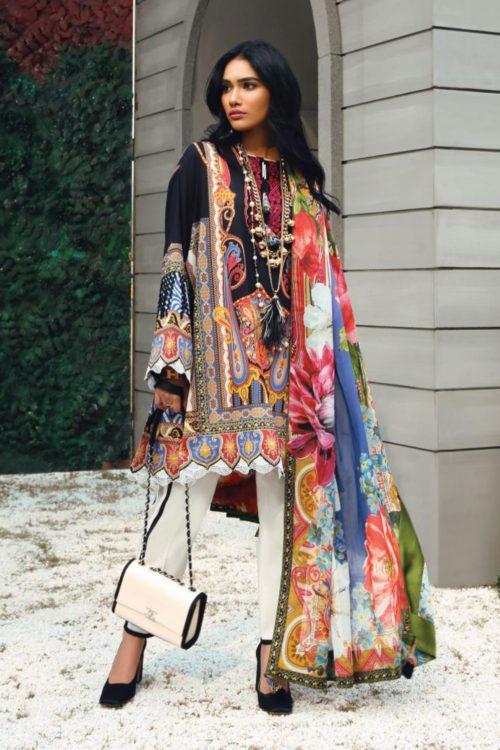 Zaha's Wonderland Summer Lawn Collection 2019  18A