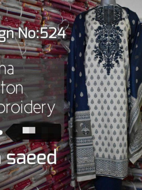 Bin Saeed Embroidered Lawn (6)
