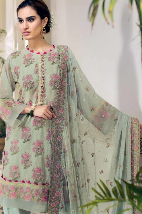 Gul Ahmed Premium Luxury Collection LSV07 Best Sellers Restocked Chiffon Dupatta Salwar Suit
