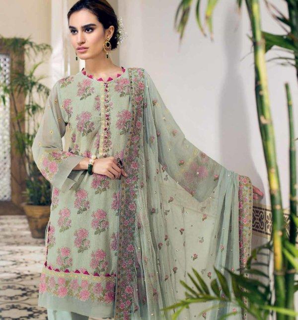 Gul Ahmed Premium Luxury Collection LSV07 Gul Ahmed Chiffon Dupatta Suits