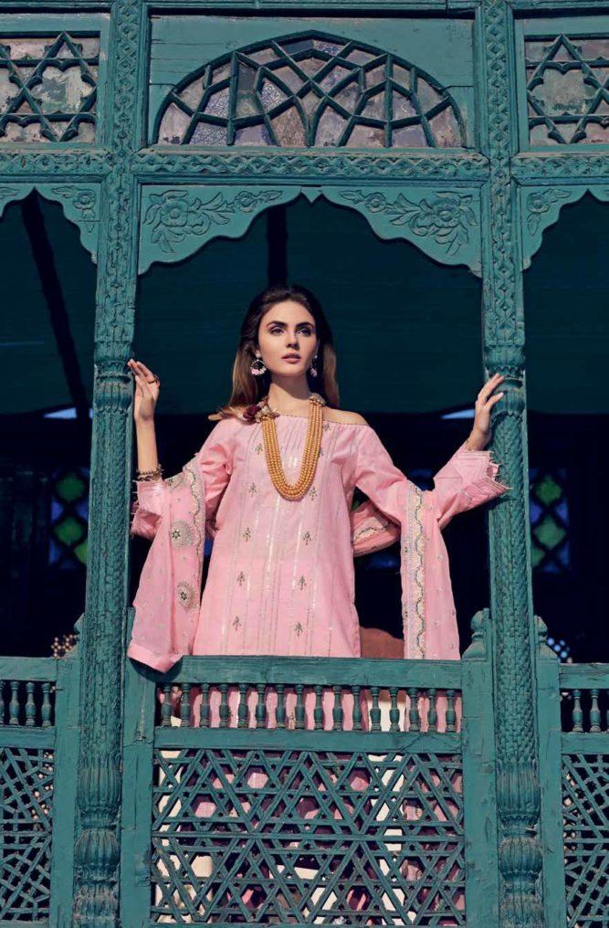 Gul Ahmed Premium Luxury Collection PM273 Gul Ahmed Chiffon Dupatta Suits