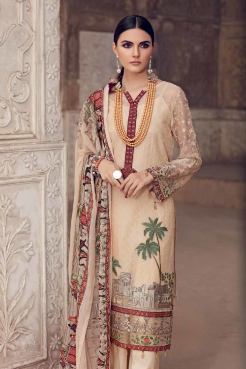 Gul Ahmed Premium Luxury Collection LE05 Best Sellers Restocked Chiffon Dupatta Salwar Suit