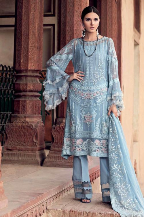 Gul Ahmed Premium Luxury Collection LE02 Best Sellers Restocked Chiffon Dupatta Salwar Suit