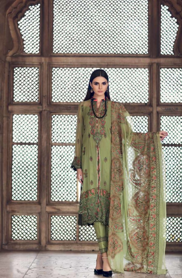 Gul Ahmed Premium Luxury Collection LE06 Gul Ahmed Chiffon Kameez Suits