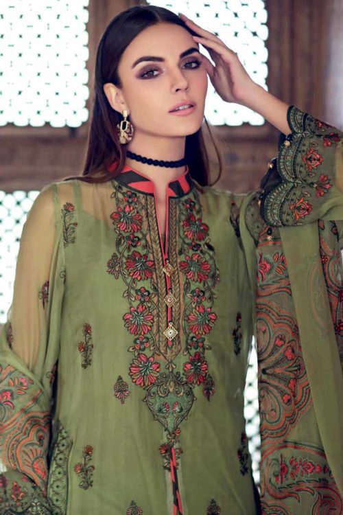 Gul Ahmed Premium Luxury Collection LE06 Best Sellers Restocked Chiffon Dupatta Salwar Suit