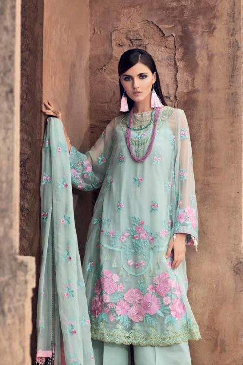 Gul Ahmed Premium Luxury Collection LE14 Best Sellers Restocked Chiffon Dupatta Salwar Suit