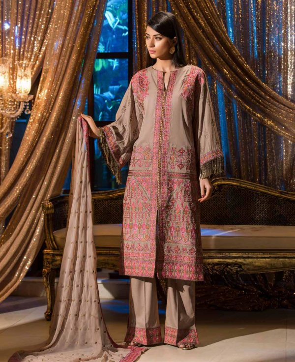 Johra Gold Swiss Voil Embroidered Collection RESTOCKED