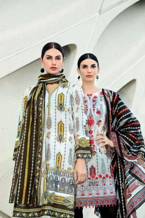 Gul Ahmed Lawn 2019 -Summer Essentials Husn-e-Aara TL183 B RED