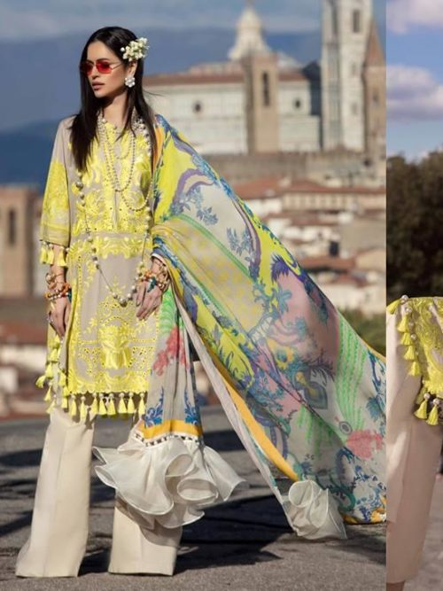 Sana Safinaz Luxury Lawn'19 1A RESTOCKED Best Sellers Restocked best pakistani suits collection