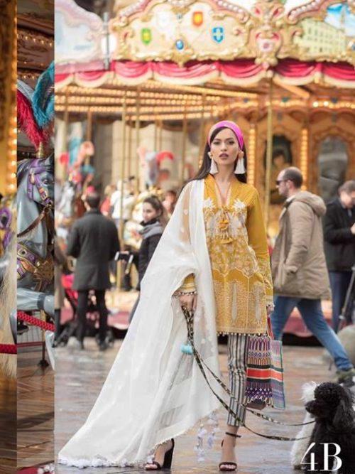 *On Sale* Sana Safinaz Luxury Lawn'19 4B  – RESTOCKED Festive