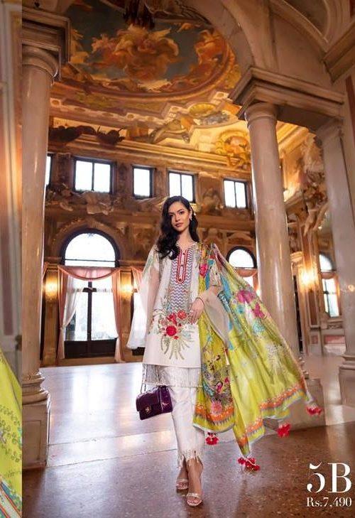Sana Safinaz Sana Safinaz Luxury Lawn'19 5B  – RESTOCKED eid shopping