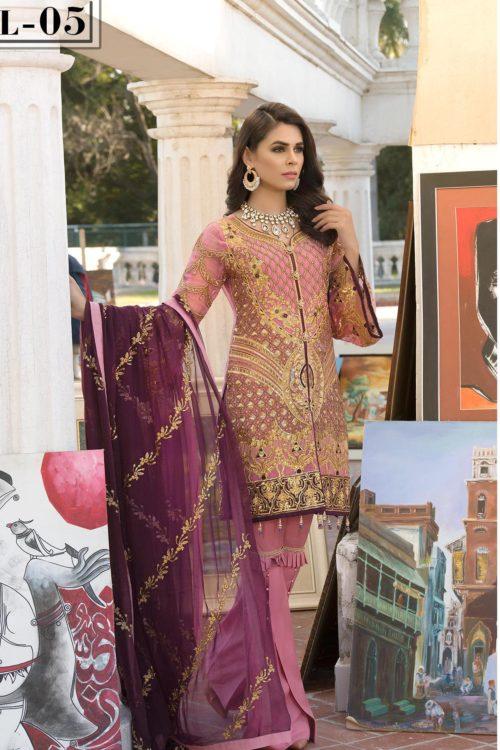 Elaf Premium Chiffon Vol 2 - Original Elaf Premium Chiffon Vol 2 Chiffon Dupatta Salwar Suit