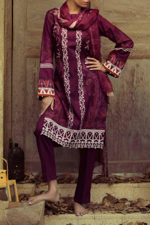 ~Sold out~ Salitex Jacquard 2019 – Z'ure Chiffon Dupatta Salwar Suit