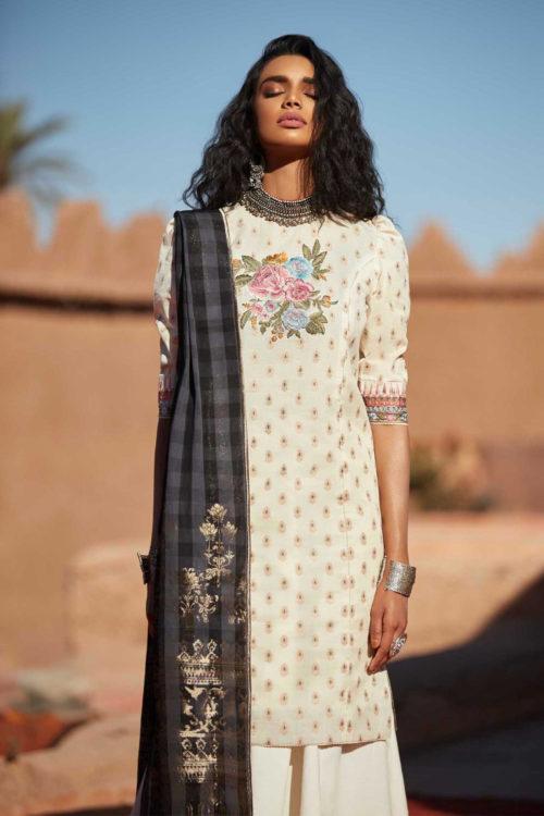 Zara Shahjahan Lawn 2019 - Original Zara Shahjahan Lawn 2019 MEHERMA-A RESTOCKED Hottest Designs - Restocked