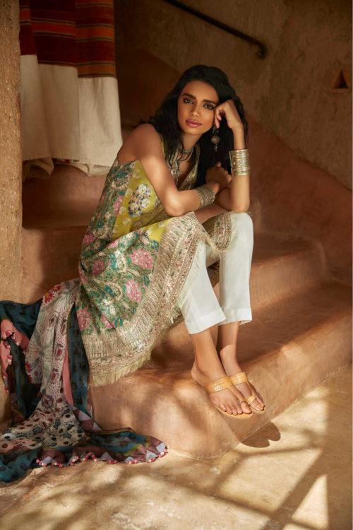 *On Sale* Zara Shahjahan Lawn 2019 SAHARA-A RESTOCKED Chiffon Dupatta Salwar Suit