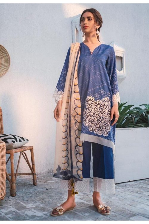 Cross Stitch Toile Summer Lawn - Original Cross Stitch Toile Summer Lawn best pakistani suits collection