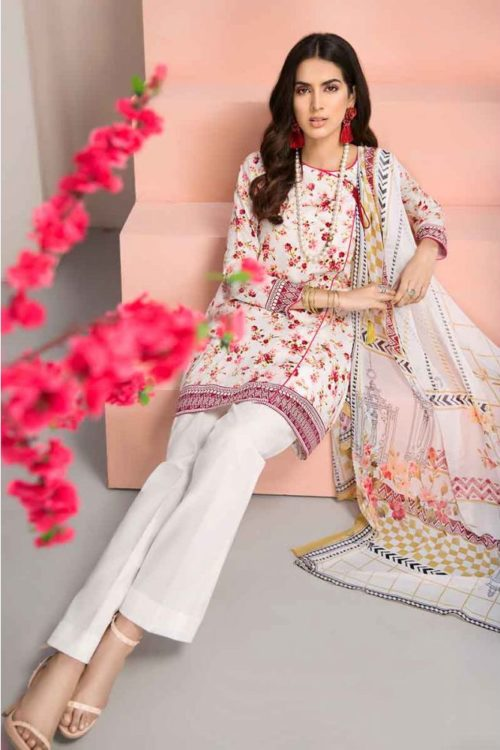 GulAhmed Mal Mal Collection 3 PC Lawn Suit  BM-119 – HOT
