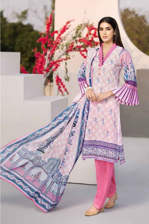 GulAhmed Mal Mal Collection 3 PC Lawn Suit  CL-498 A – HOT