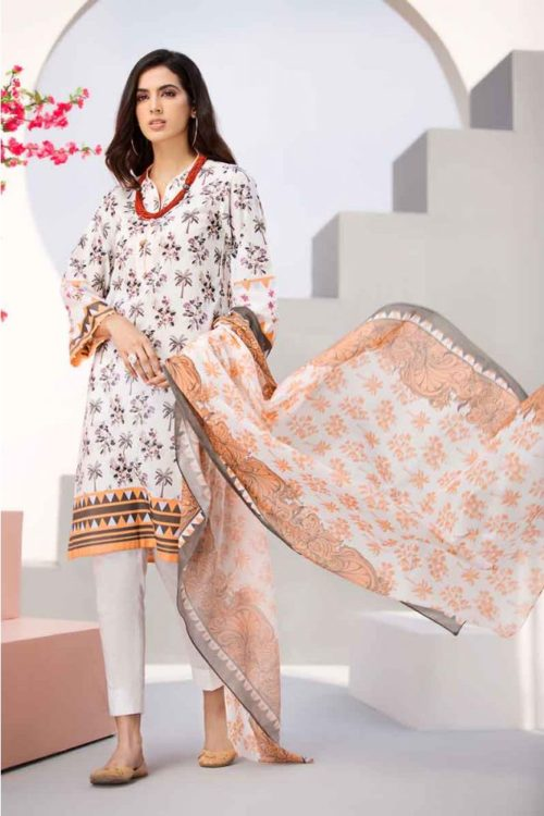 GulAhmed Mal Mal Collection 3 PC Lawn Suit  CL-503 B Gul Ahmed best pakistani suits collection