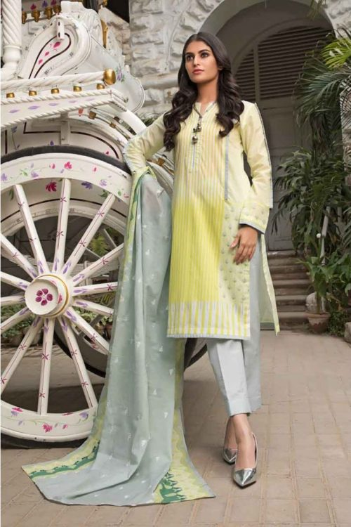 GulAhmed Mal Mal Collection 3 PC Lawn Suit CL-524 A – HOT