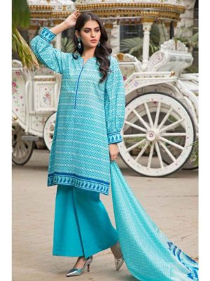 GulAhmed Mal Mal Collection 3 PC Lawn Suit CL-549 B – HOT