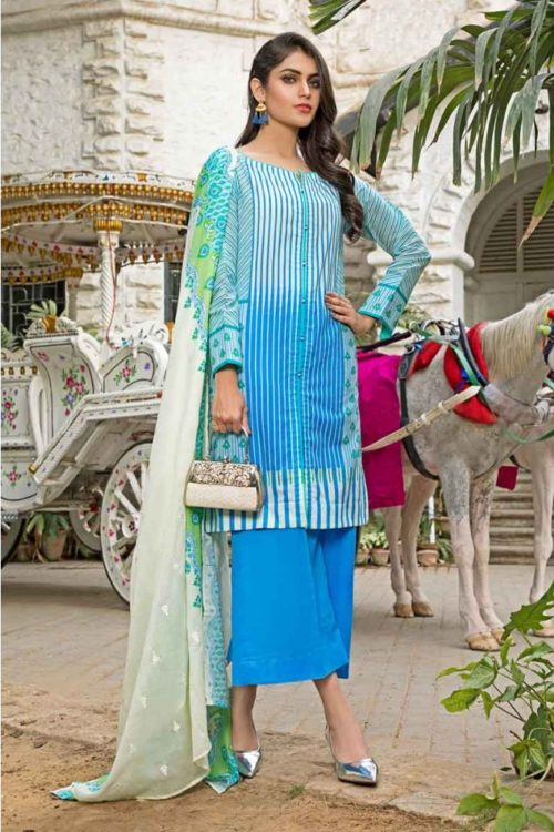 GulAhmed Mal Mal Collection 3 PC Lawn Suit CL-524 B – HOT