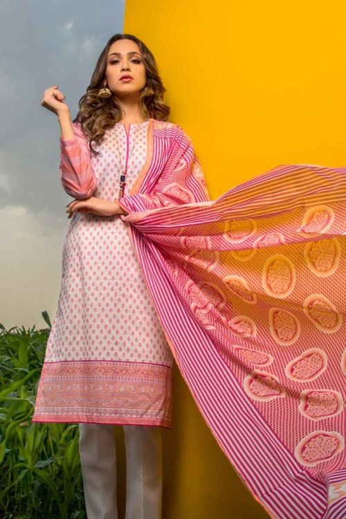 GulAhmed Mal Mal Collection 3 PC Lawn Suit CL-551 A – HOT