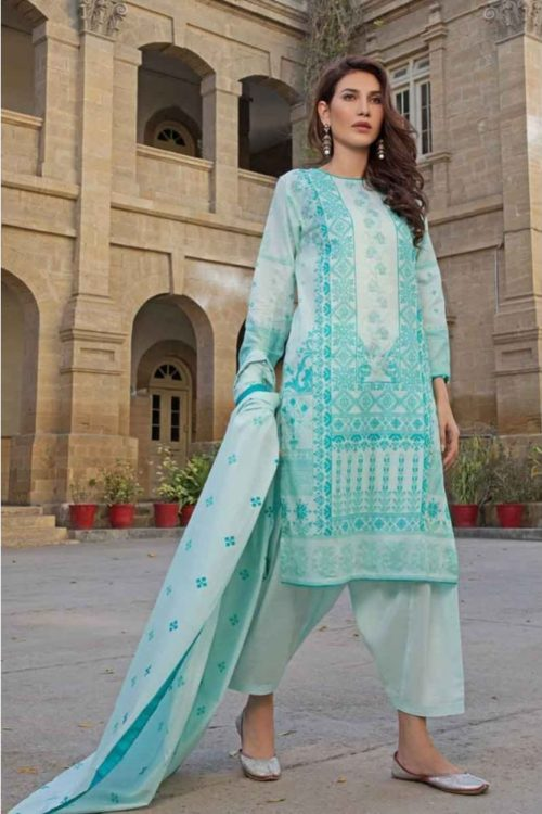 GulAhmed Mal Mal Collection 3 PC Lawn Suit CL-492 B – HOT Gul Ahmed best pakistani suits collection