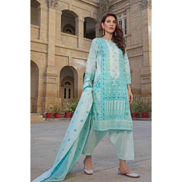 GulAhmed Mal Mal Collection 3 PC Lawn Suit CL-492 B – HOT