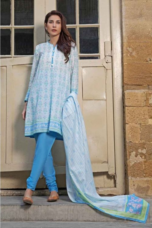 GulAhmed Mal Mal Collection 3 PC Lawn Suit CL-557 B – HOT Gul Ahmed Gul Ahmed