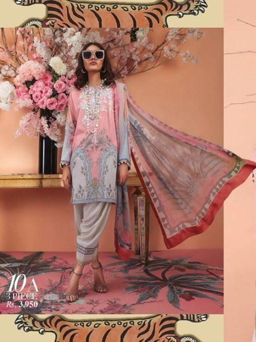 Sana Safinaz Sana Safinaz Muzlin Vol 2 – 2019- 10A RESTOCKED Chiffon Dupatta Salwar Suit