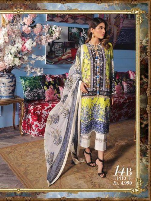 Sana Safinaz Sana Safinaz Muzlin Vol 2 – 2019- 14B best pakistani suits collection