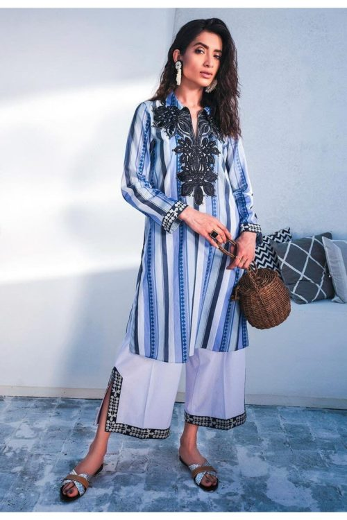 Cross Stitch Toile Summer Lawn - Original Cross Stitch Toile Summer Lawn Chiffon Dupatta Salwar Suit