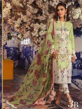 Sana Safinaz Sana Safinaz Muzlin Vol 2 – 2019- 3B Chiffon Dupatta Salwar Suit