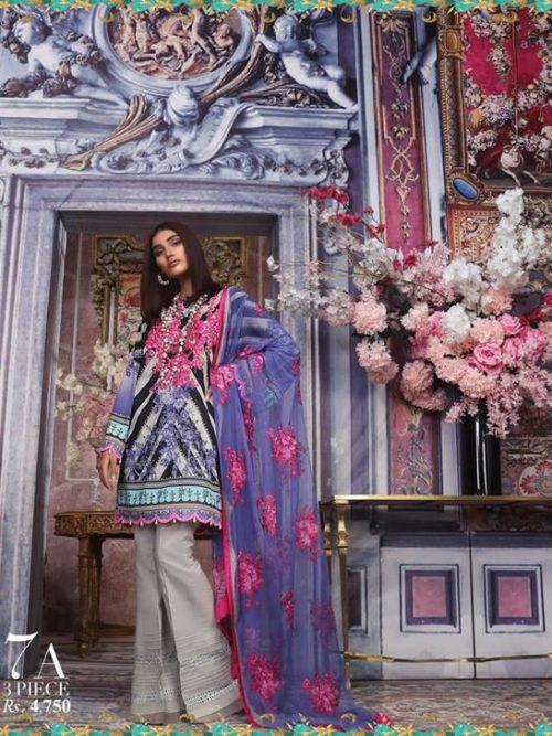 Sana Safinaz Sana Safinaz Muzlin Vol 2 – 2019- 7A Lawn Dupatta Salwar Suits