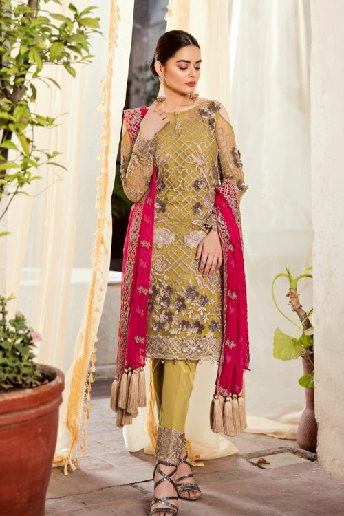 Grandeur Ecstasy Ramzan Eid Collection from Imrozia 708 The Olivine Splash RESTOCKED UZ
