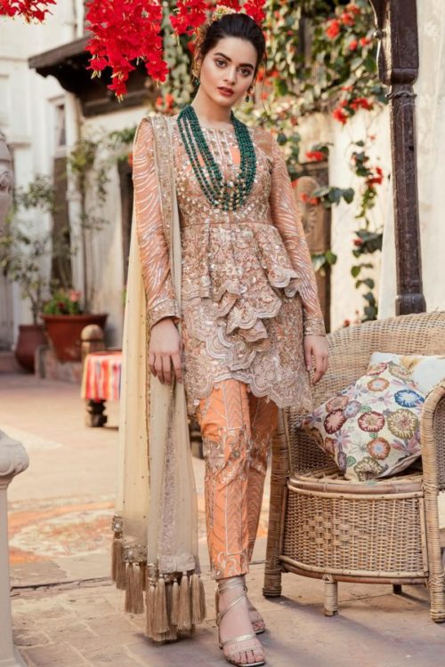 *On Sale* Grandeur Ecstasy Ramzan Eid Collection from Imrozia 705 The Shimmer Tangerine best pakistani suits collection
