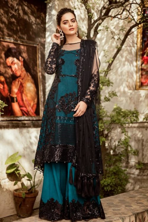 Grandeur Ecstasy Ramzan Eid Collection from Imrozia 704 The Teal Moonlight RESTOCKED UZ